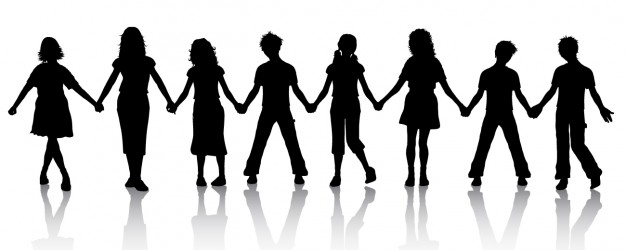 children-holding-hands-silhouette_1048-893